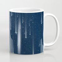 stars Mugs featuring Wishing Stars by Paula Belle Flores