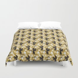Birds & Bugs in Yellow Duvet Cover