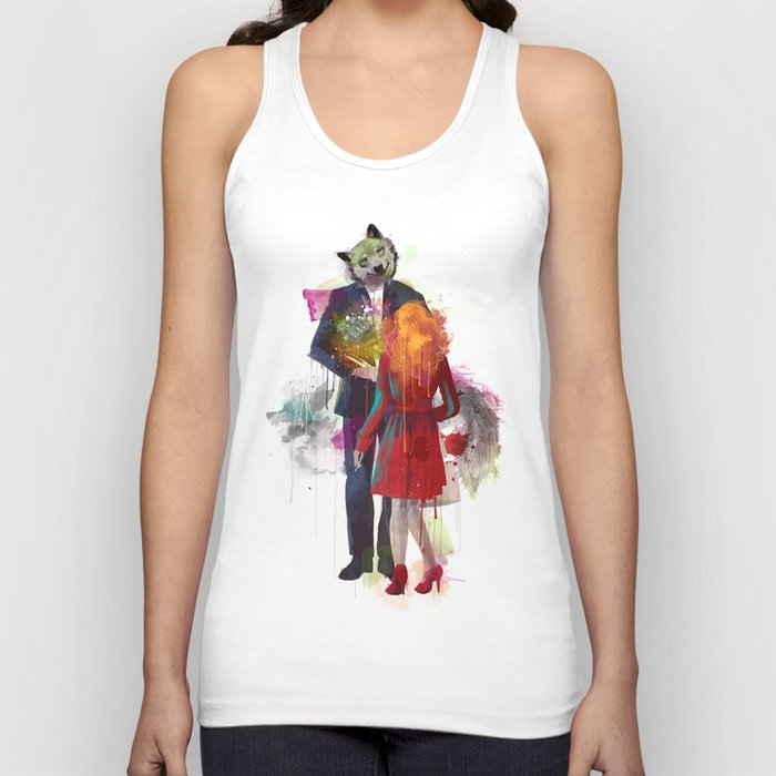 Red Riding, I Am Not Your Wolf Unisex Tank Top