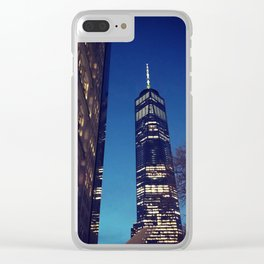 New York City at Dusk Clear iPhone Case