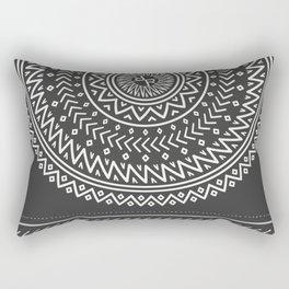 Mexico Rubino One World Red Yoga Hand Aztec Rectangular Pillow