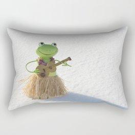 Frog in Snow Rectangular Pillow