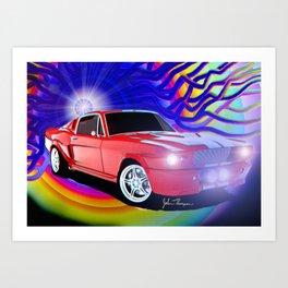 65 Mustang Art Print