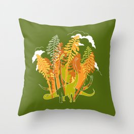 Brachio Grove Throw Pillow