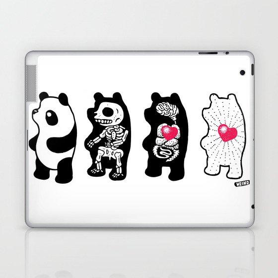 Panda Anatomy Laptop & iPad Skin