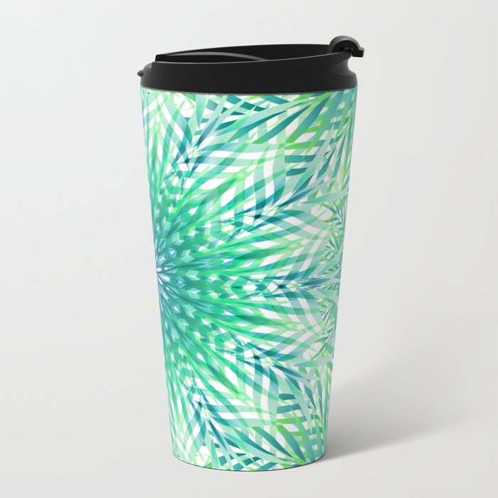 Palm Leaf Mandala Metal Travel Mug