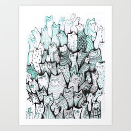 All the cats. Art Print