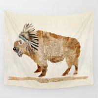 buffalo Wall Tapestries featuring buffalo by bri.buckley