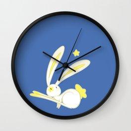 Star Bunny Bouncing Wall Clock