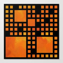 Visopolis V1 - orange flames Canvas Print