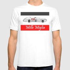 RennSport Speed Series: Mille Miglia White Mens Fitted Tee MEDIUM