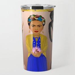 Frida Kahlo Tribute Copper Travel Mug