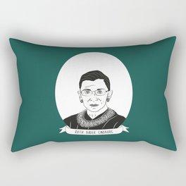 Ruth Bader Ginsburg Illustrated Portrait Rectangular Pillow