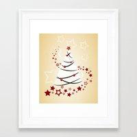 christmas tree Framed Art Prints featuring christmas tree by Li-Bro