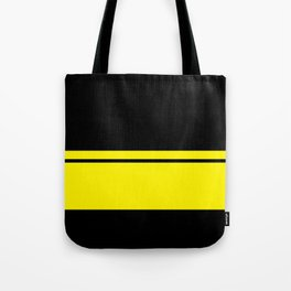 Yellow Racing Stripe Berlin Style Tote Bag