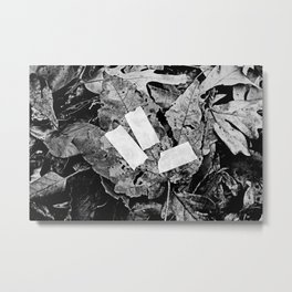 NATURE INJURY BW Metal Print