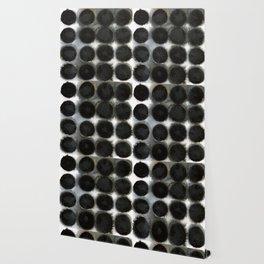WATERCOLOUR DISCS: Black Spinel Wallpaper