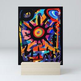 Black Sun is shining Abstract Art Street Graffiti Mini Art Print