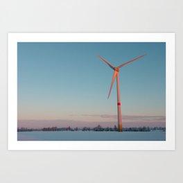 #Wind #Turbine at #Dawn Art Print