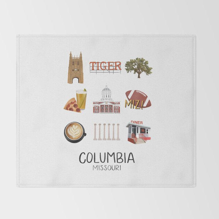 Columbia, Missouri Throw Blanket