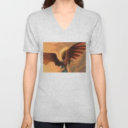 About to fall Unisex V-Neck