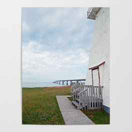 Bridge and Lighthouse Poster