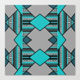 Geometric triangel pattern Design Canvas Print