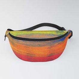 Horizon Blue Orange Red Abstract Art Fanny Pack