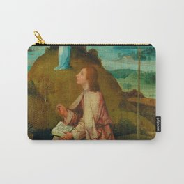 """Hieronymus Bosch """"St. John the Evangelist on Patmos"""" Carry-All Pouch"""