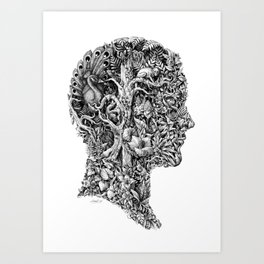 portrait of summer Art Print