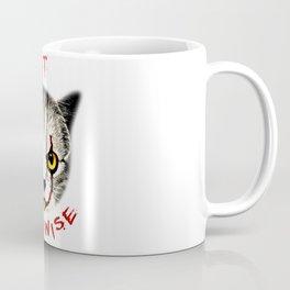 cat clown kittywise vector art Coffee Mug