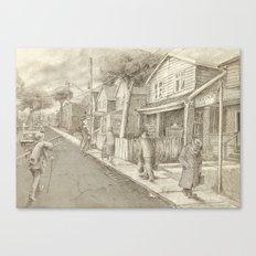 The Night Gardener - Grimloch Lane  Canvas Print
