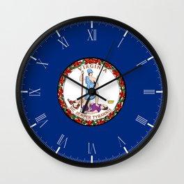 Flag of Virginia Wall Clock