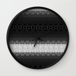 Black Tower Spiral Wall Clock