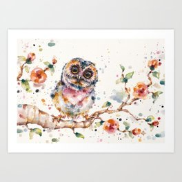 Yep, Cute Is My Middle Name (Owl) Art Print