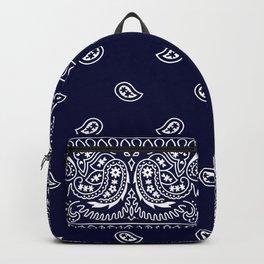 Bandana - Navy Blue - Southwestern - Paisley  Backpack
