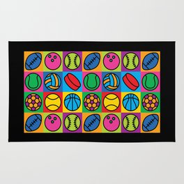 Sport Ball Pop Art Rug