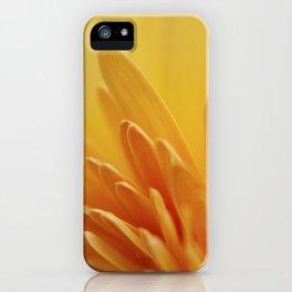 Macro photograph of Yellow Gerbera Daisy Petals II iPhone Case