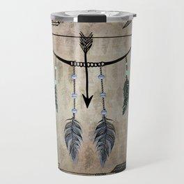 Bow, Arrow, and Feathers Travel Mug