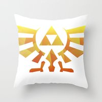 triforce Throw Pillows featuring Triforce by Wicttor