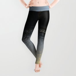 Downeast Autumn Reflections of Scattered Illuminations Leggings
