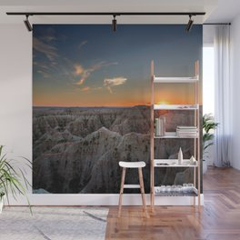 South Dakota Sunset - Dusk in the Badlands Wall Mural