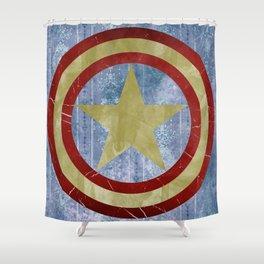 Vintage Capt America Shower Curtain