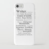 writer iPhone & iPod Cases featuring Writer by Rebekah Joan