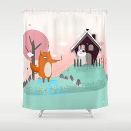 The Fox and The Hire Shower Curtain