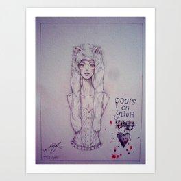 Blood. Art Print