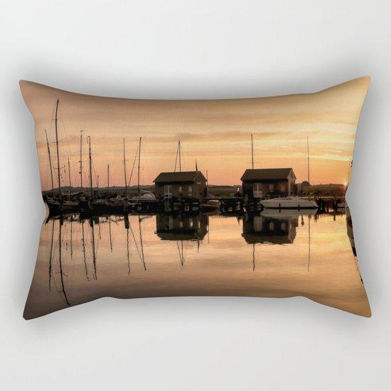 Sunrise at the sea - Harbour Ocean Water Ship Boat Rectangular Pillow