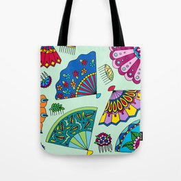 Colorful Fans Tote Bag