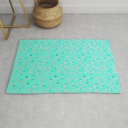 NSFW Aqua Kinky S&M Pattern Rug