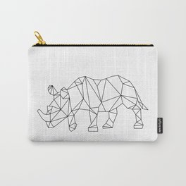 Geometric Rhino Design Carry-All Pouch